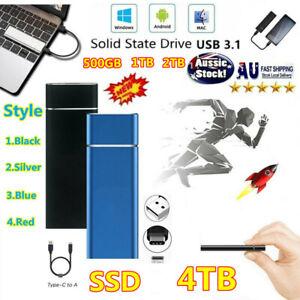 4TB USB 3.1 SSD HDD External Hard Drive Hard Disk For Desktop Mobile PC Laptop