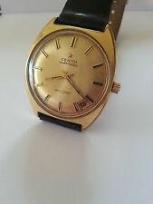 VINTAGE 1970s ZENITH AUTOSPORT AUTOMATICO WATCH 23 gioielli in oro 20 Micron