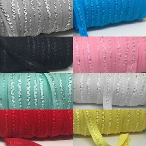 Soft Cotton Fold Over Elastic Roll 2 Metres 15 mm Headbands Baby Bow Band