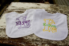 Name and Initial Personalized Baby Bib