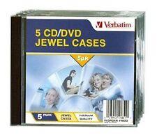($0 p&h) Verbatim Quality brand CD/DVD Jewel Cases 20 x 5 (Pack 100 jewel cases)
