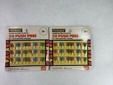 Lot Of 2 Vintage Hard To Find Pedigree Push Pins Thumb Tacs Advertised In Life