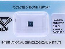 natürlicher 0,51 Karat Saphir Baguette blue IGI Expertise