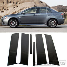 Dry Carbon For Mitsubishi Evolution X 10th Sedan Side Door B Pillar Post Cover