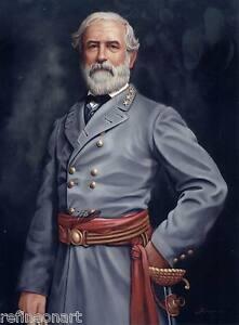 Handmade Oil Painting repro Robert E. Lee Civil War