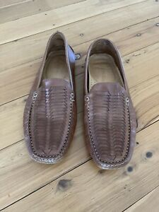 Brown Leather Loafers By Bass Size 10 1/2 Made In Brazil
