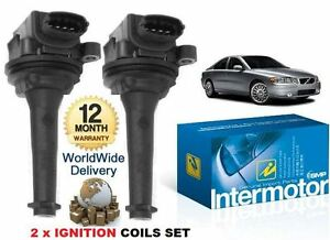 FOR VOLVO S60 2.0 2.4 T5 2.5 TURBO 2000-2010 2x IGNITION COIL PACK SET 30713416
