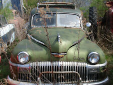 1948 Desoto in Salvage yard being overtaken by nature  8 x 10 photograph