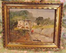 Antonini signed original Impressionistic acrylic Framed painting 8 1/4 x 6 1/2