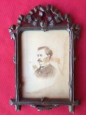 CADRE PORTE PHOTO EN BOIS SCULPE XIX EME DECOR DE NOEUD LOUIS XVI EPOQUE 1900