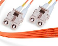 OM1 LC-LC 62.5/125 Multimode Duplex Fiber Optic Cable - [ 65 Meter ]