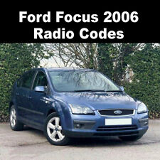 Ford Focus 2006 Radio Code Stereo Reset Codes PIN Car Unlock Service UK