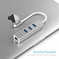 LENTION USB-C HUB to USB 3.0 Splitter Gigabit Ethernet Adapter for MacBook Pro
