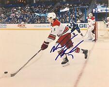 Noah Hanifin Signed Autographed Carolina Hurricane 8x10 Photo Roy Rare