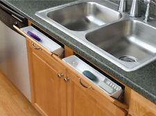 "14"" Tip-Out Sink Tray False Front Drawer Panel Basket Storage Organizer 2-Set"