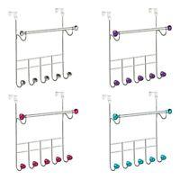 Over Door Hanger Coat Hooks Storage Rack Clothes Rail Organiser Towel Holder New