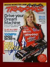 Courtney Force NHRA Funny Car Autographed Traxxas Magazine Signed in Blue Sharpi