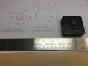Takane Clock Movement Mechanism Battery Operated Quartz 5/8 long 1/8 thick USA