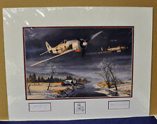 Nicolas Trudgian WINTER COMBAT Signed & Numbered Matted Print