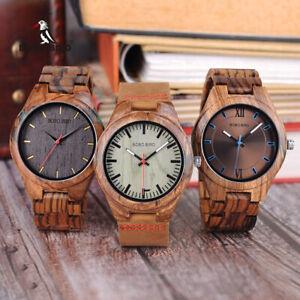 BOBO BIRD Rare Wood Watch Men Design Timepieces Quartz Gifts For Him Dad Son Box