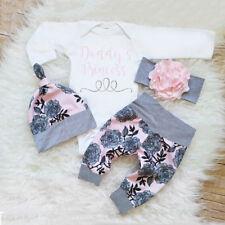 3 x Neugeborene Kleinkinder Baby Mädchen Outfits Kleidung Satz Body