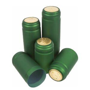 100 GREEN SHRINK CAPS SHRINKS CAPSULES HOME BREW WINE MAKING BOTTLE
