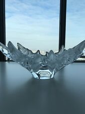 "Lalique  Bowl ""Champs Elysees"" crystal in iconic pattern Centerpiece"
