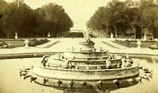 France Versailles Frogs Fountain Reine des Grenouilles Old CDV Photo 1860's