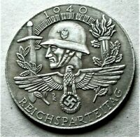 WW2 GERMAN COMMEMORATIVE COLLECTORS COIN 1940