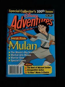 Disney Adventures Collector's 100th Issue Mulan Michael Jordan July 98 Magazine