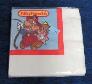 1988 Nintendo Super Mario and Princess Napkins New Unused still Sealed 16 count