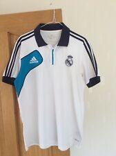 Vintage Real Madrid Football Adidas Polo Shirt, Climalite Size 40�-42�