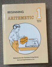 Rod And Staff  Beginning Arithmetic 1 Teachers Manual Grade 1 Hard Cover