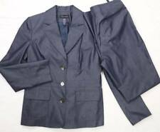 CONTEXT Suit Blazer/Pants Denim Travel Career Slim Lined Notched 6 NWOT