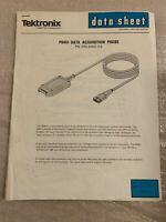 Vintage RARE - TEKTRONIX P6451 DATA ACQUISITION PROBE DATA SHEET - MAN CAVE