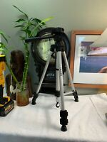 "58"" Silver Tripod 58 Inch Photo Video Camera Universal Tripod PRISTINE Shape"