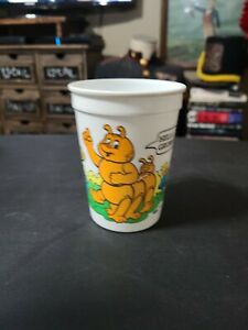 Vintage 1985 Wendy's Teddy Ruxpin Plastic Kids Meal Cup- Grubby