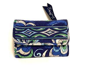 Vera Bradley Mediterranean Blue Trifold Wallet