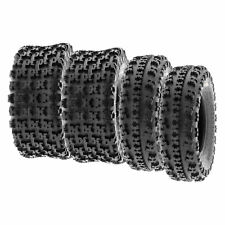 SunF 22x7-10 22x10-9 All Terrain Atv Race Tires 6 Pr Tubeless A027 [Bundle]