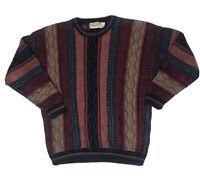 Vtg Cotton Traders Coogi Style Sweater Mens Xl Biggie Smalls Bill Cosby Knit