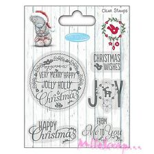 "*TAMPON TRANSPARENT ""ME TO YOU CHRISTMAS"" EMBELLISSEMENT SCRAPBOOKING CARTERIE*"