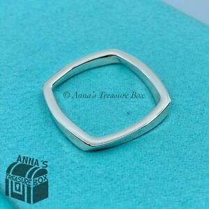 Tiffany & Co. 925 Silver Gehry Narrow Torque Ring Sz. 11 (pouch)