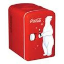Coca Cola Portable Mini Fridge 6 Can Refrigerator Cooler With Warming Retro, Red