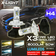 Toyota Landcruiser 70/76/78/79 Series LED Headlight Upgrade Kit H4 Hi/Lo Bulbs