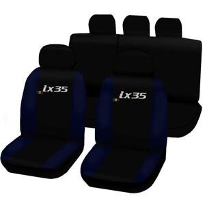 Negro-azul efecto 3d fundas para asientos para Hyundai i30 coche sede referencia completamente