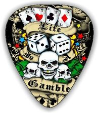 10 TATTOO POKER ~ GUITAR PICKS ~ PLECTRUMS *Printed Both Sides*