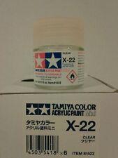 Tamiya acrylic paint X-22 Clear 10ml Mini.