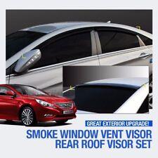 Smoke Window Vent Visor + Rear Spoiler Molding For HYUNDAI 2011 - 2014 Sonata YF