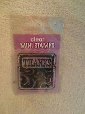 Inkadinkado Clear Mini Stamp Thanks Background 98867 New