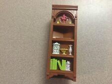 Fisher Price Loving Family Corner Bookshelf Dollhouse Furniture Shelf